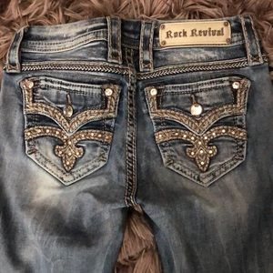 Rock Revival Mid Rise Boot Cut Jeans